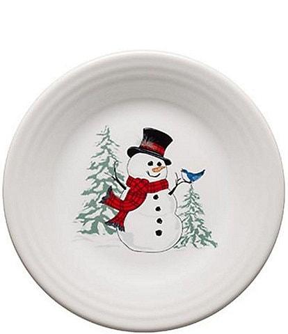Fiesta Snowman 9#double; Luncheon Plate