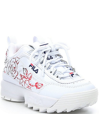 FILA Girls' Disruptor II Floral Print Sneakers (Toddler)