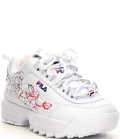 FILA Girls' Disruptor II Floral Print Sneakers (Youth)