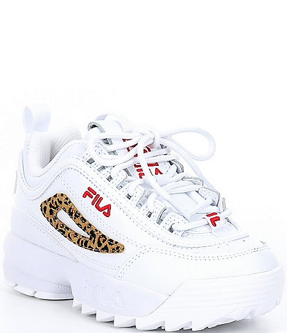 FILA Girls' Disruptor II Leopard Shoes Toddler