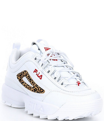 FILA Girls' Disruptor II Leopard Sneakers Youth