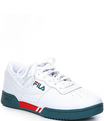 FILA Men's Original Leather Lace-Up Fitness Sneakers