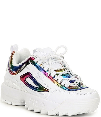 FILA Women's Disruptor II Chrome Lace-Up Sneakers