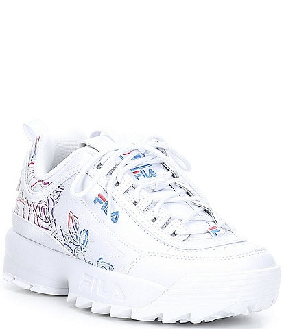 FILA Women's Disruptor II Floral Lifestyle Lace-Up Sneakers