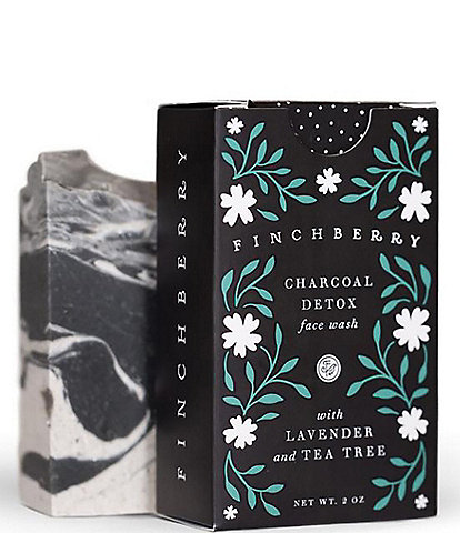 Finchberry Charcoal and Tea Tree Detox Face Wash - Handcrafted Vegan Face Soap