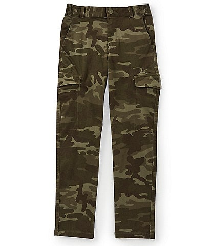 First Wave Big Boys 8-20 Camo Print Stretch Twill Cargo Pants