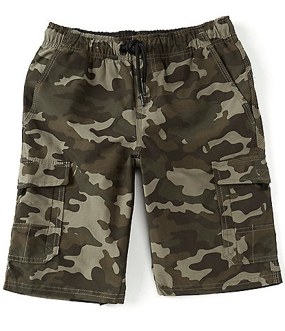 First Wave Big Boys 8-20 Camo Pull On Cargo Shorts