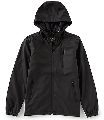 First Wave Big Boys 8-20 Faux Leather Hooded Jacket