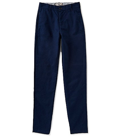 First Wave Big Boys 8-20 Flat Front Twill Pants