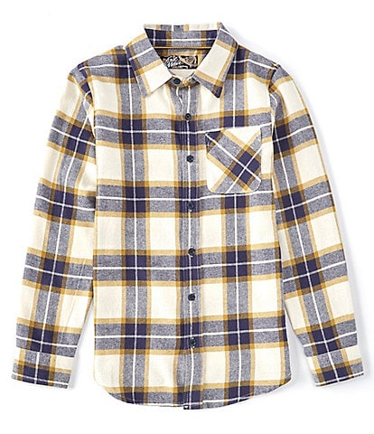 First Wave Big Boys 8-20 Long-Sleeve Plaid Button-Front Shirt