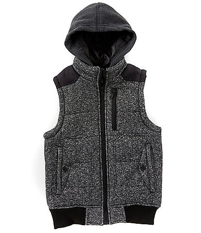 First Wave Big Boys 8-20 Marled Hooded Vest
