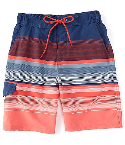 First Wave Big Boys 8-20 Stripe Swim Trunks