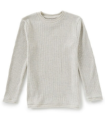 First Wave Big Boys 8-20 Waffle-Knit Thermal Crew-Neck Shirt