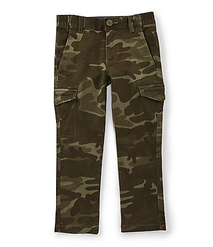 First Wave Little Boys 2T-7 Camo Print Stretch Twill Cargo Pants