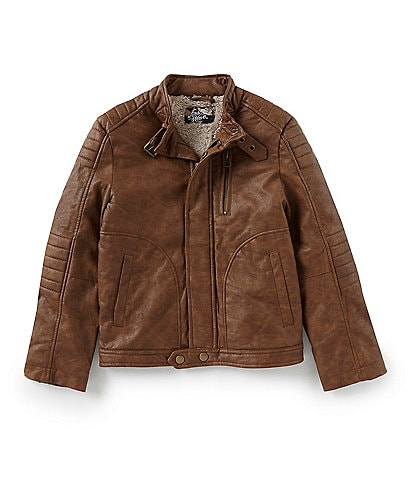 First Wave Little Boys 2T-7 Faux Leather Moto Jacket