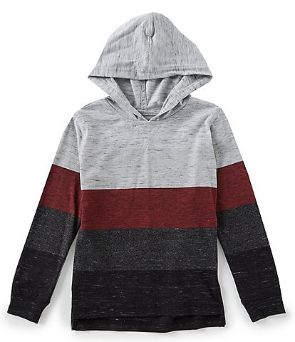 First Wave Little Boys 2T-7 Heathered Stripe Tee with Hood