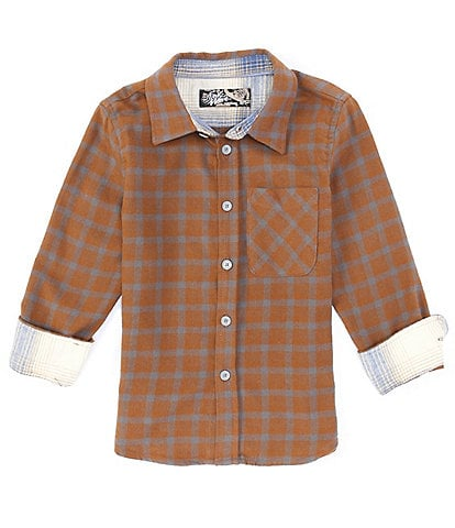 First Wave Little Boys 2T-7 Long-Sleeve Checked Button-Down Shirt