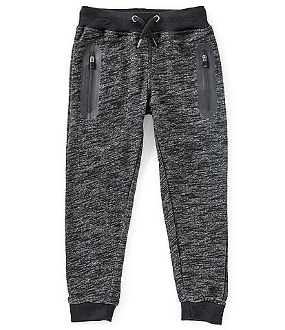 First Wave Little Boys 2T-7 Tonal Solid Banding-Marled Jogger Pants
