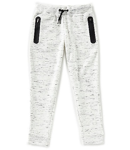 First Wave Little Boys 2T-7 Contrast Pockets-Marled Jogger Pants