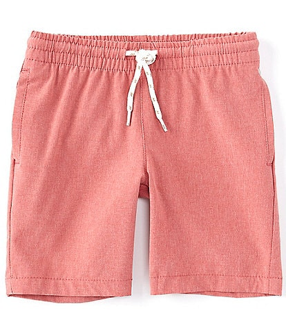 First Wave Little Boys 2T-7 Pull-On Crosshatch Synthetic Shorts