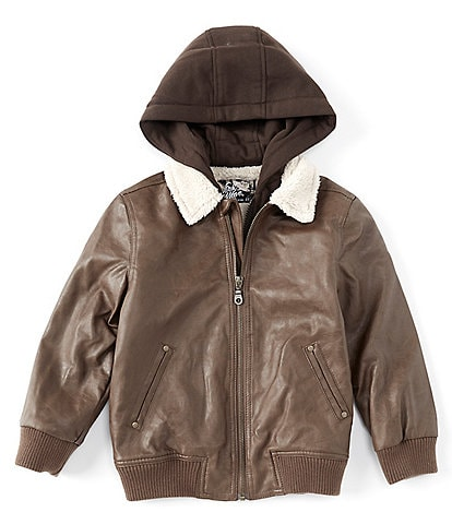 First Wave Little Boys 2T-7 Sherpa Collar Bomber Jacket