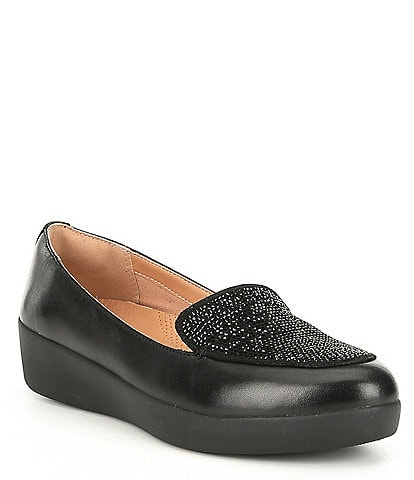 FitFlop Q45 Leather Sneaker Loafers