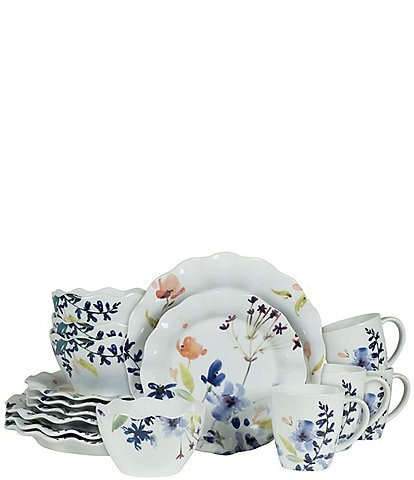 Fitz And Floyd Floral Splash 16-piece Place Setting