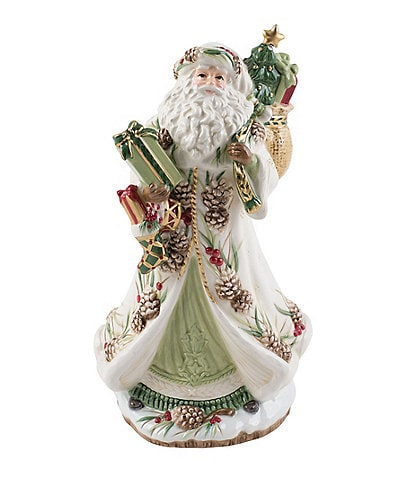 Fitz and Floyd Forest Frost Santa Musical Figurine