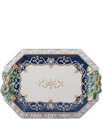 Fitz and Floyd Gregorian Blue Large Platter