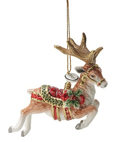 Fitz and Floyd Holiday Home Dated 2020 Reindeer Ornament