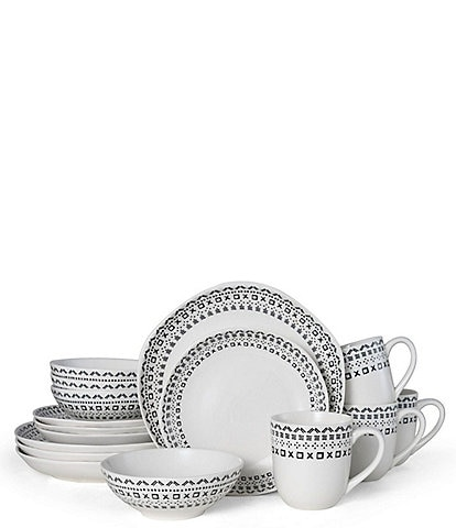 Fitz And Floyd Organic Curves Maric 16-Piece Place Setting