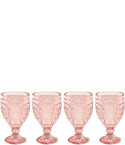 Fitz and Floyd Trestle Blush Goblets, Set of 4