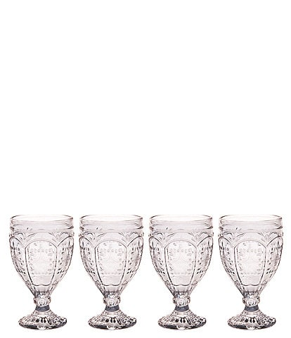 Fitz and Floyd Trestle Smoke Goblets, Set of 4