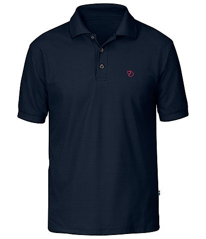 Fjallraven Crowley Pique Short-Sleeve Polo Recycled Polyester Shirt