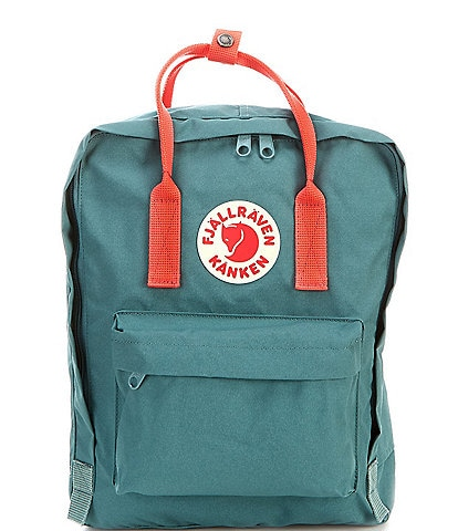 Fjallraven Kanken Colorblock Handles Water-Resistant Backpack