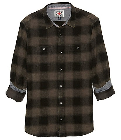 Flag and Anthem Big & Tall Shaw Vintage Washed Flannel Long-Sleeve Woven Shirt