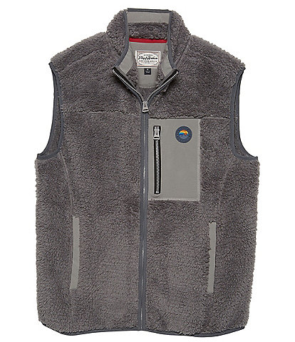 Flag and Anthem Big & Tall Whitewater Full-Zip Sherpa Vest
