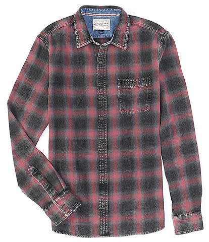 Flag and Anthem Cornell Vintage Washed Flannel Long-Sleeve Shirt
