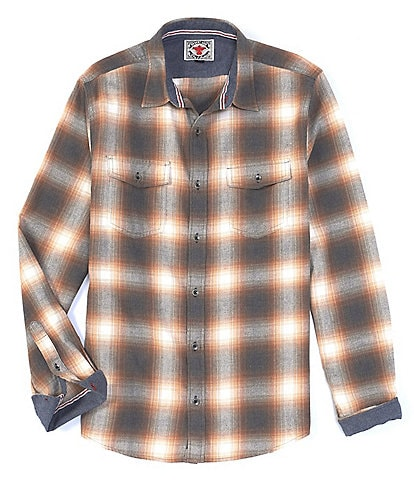 Flag and Anthem Henson Vintage Washed Long Sleeve Button Down Flannel Shirt