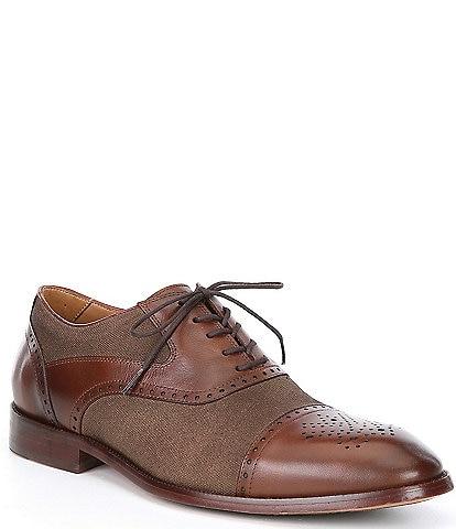 Flag LTD. Men's Hamilton Leather Canvas Cap Toe Dress Shoes