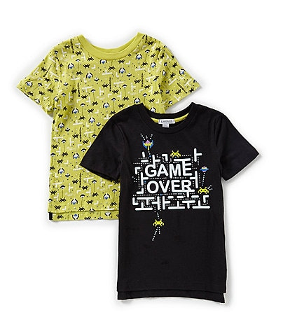 Flapdoodles Baby Boys 12-24 Months 2-Pack Short Sleeve Tees