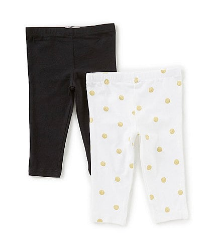 Flapdoodles Baby Girls 12-24 Months Solid 2-Pack Leggings Set