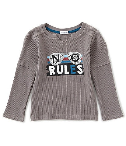 Flapdoodles Little Boys 2T-7 No Rules Long Sleeve Slider Tee