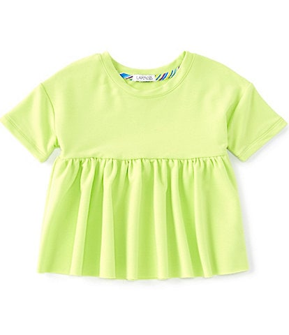 Flapdoodles Little Girls 2T-6X French Terry Babydoll Top
