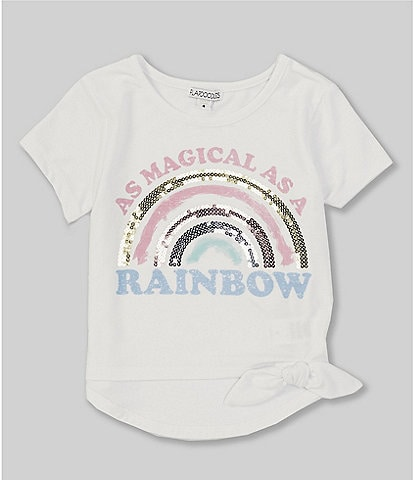 Flapdoodles Little Girls 2T-6X Short-Sleeve As Magical As A Rainbow Tee
