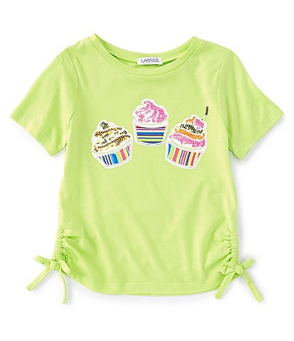 Flapdoodles Little Girls 2T-6X Short-Sleeve Cupcake Graphic Tee