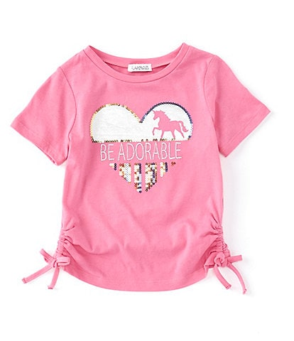 Flapdoodles Little Girls 2T-6X Short-Sleeve Heart Graphic Tee