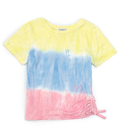 Flapdoodles Little Girls 2T-6X Short-Sleeve Ombre Side-Tie Tee