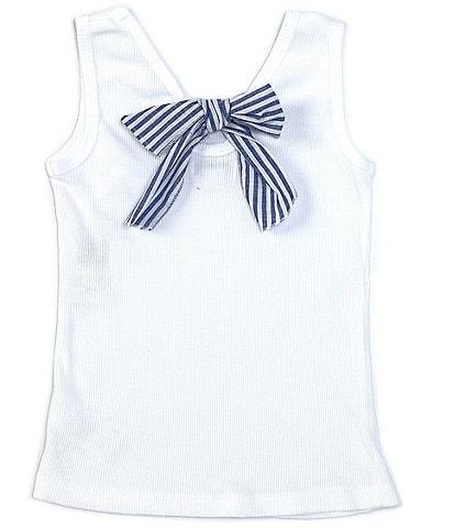 Flapdoodles Little Girls 2T-6X Stripe Bow-Back Tank Top