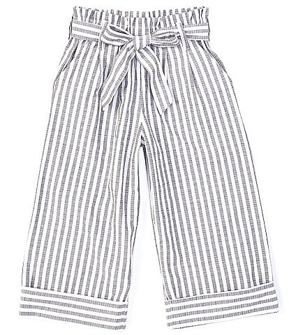 Flapdoodles Little Girls 2T-6X Striped Paperbag-Waist Pants